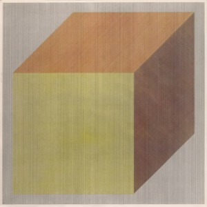 Isometric Cube with Lines in Four Directions and Four Colors, 1983 © Sol LeWitt