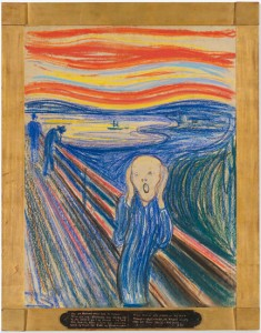 Edvard Munch, The Scream, 1893 (German title Der Schrei der Natur - The Scream of Nature)