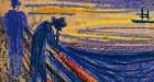 Edvard Munch-Scream men on the bridge