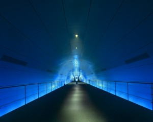 Blue Tunnel #1, Osaka. Michael Eastman. Image courtesy Barry Friedman Gallery, © Michael Eastman