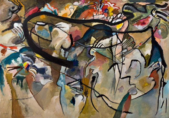 Vasily Kandinsky, 'Composition #5', on view at 'Inventing Abstraction 1910 - 1925', MoMA.Image courtesy Museum of Modern Art