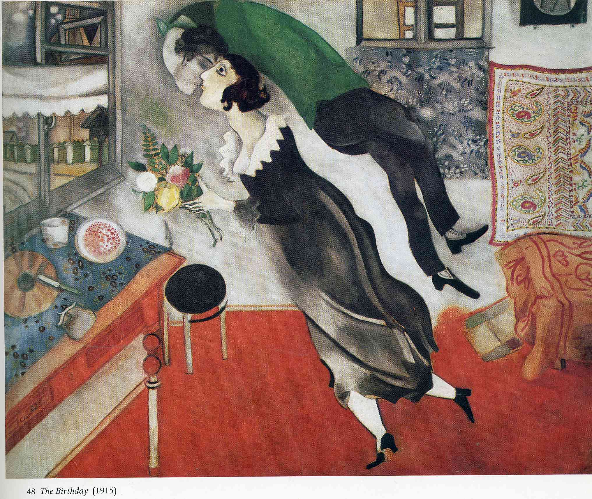 birthday by marc chagall a brief history on artex. Black Bedroom Furniture Sets. Home Design Ideas