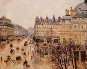 Place du Theatre Francais, Camille Pissarro