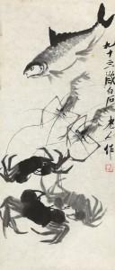 Qi Baishi, Crabs and fish