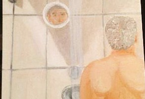 George Bush, 'Self-Portrait in a Shower'