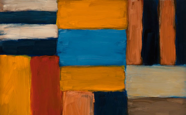 Sean Scully, Cut Ground, Yellow and Blue