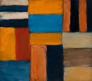 Sean Scully, Cut Ground Yellow, Blue