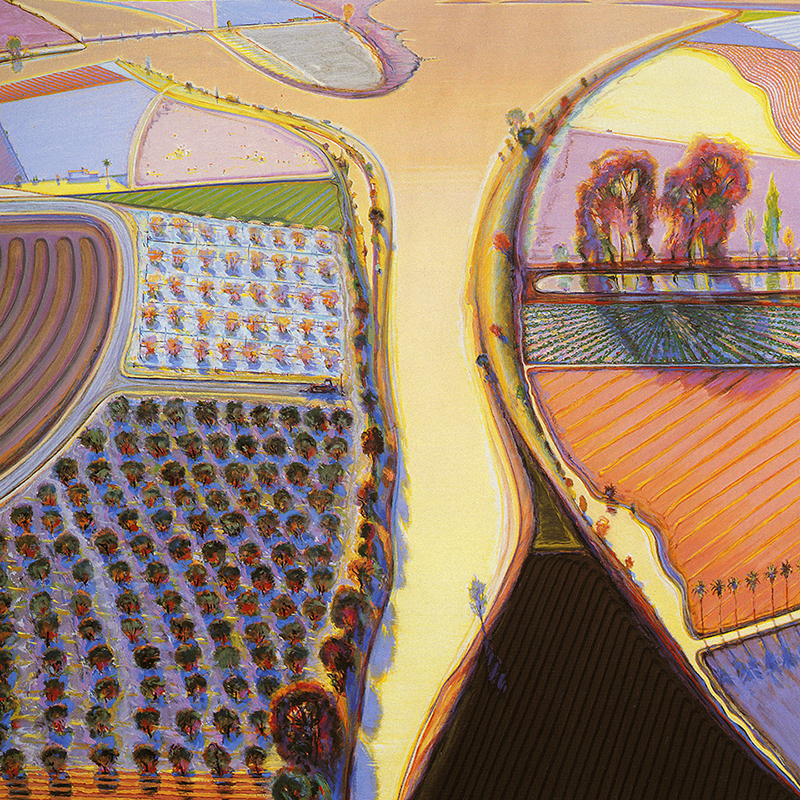 inShare - River Intersection By Wayne Thiebaud - GalleryIntell