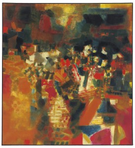 S.H. Raza, Village en Fête. Image courtesy Christie's Images, Ltd.