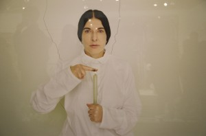 Marina Abramovic. Artist Portrait_with a Candle. Luciana Brito Galeria. The_Armory Show 2013. galleryIntell