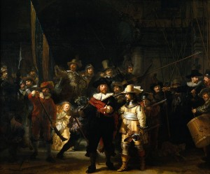 Rembrandt. The Nightwatch. Oil on canvas