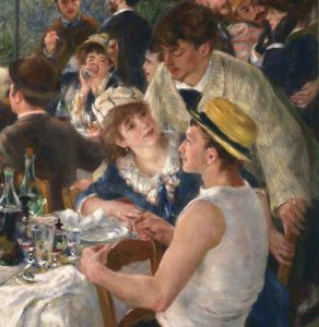 Detail. Pierre-Auguste Renoir, 'Luncheon of the Boating Party, 1881. (Gustave Caillebotte).The Phillips Collection, Washington DC