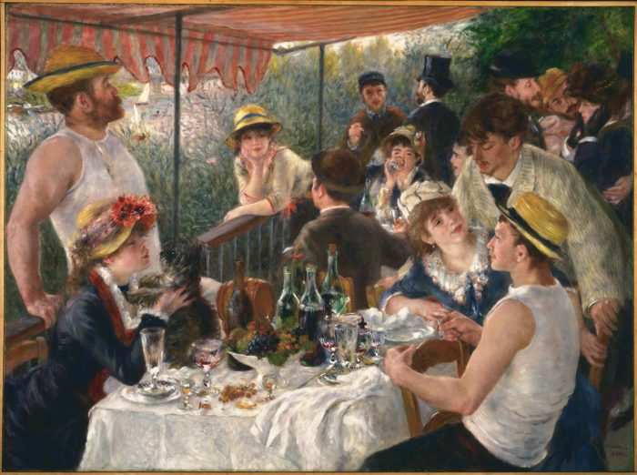 Pierre-Auguste Renoir, 'Luncheon of the Boating Party', 1881. Oil on canvas. In The Phillips Collection.