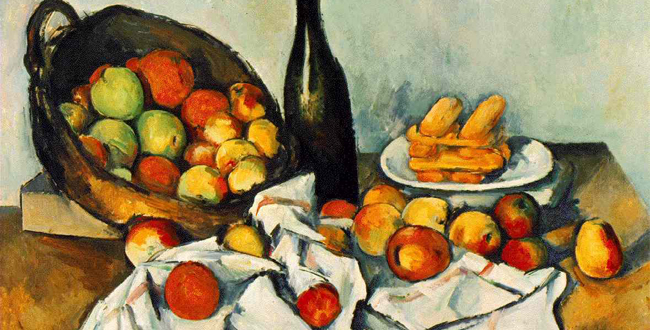 cezannes fruit and basket essay Paul cézanne (us: / s e  a shock and cause yellow fever in the fruit of her womb before its entry into the  cézanne's doubt: essay.