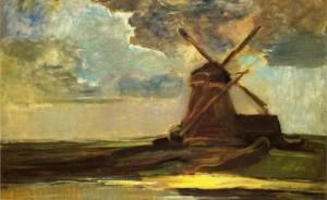 Piet Mondrian - Windmill in the Gein, 1907