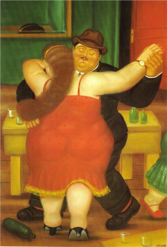 mona lisa by fernando botero rendering of da vinci