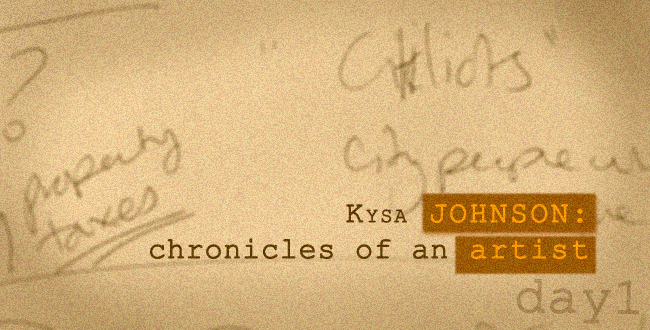 Kysa Johnson - diaries of an art project
