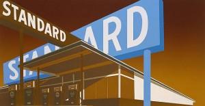 Ed Ruscha - Standard Station (Blue)