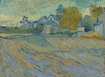 Vincent Van Gogh, 'Vue de l'asile et de la Chapelle de Saint-Rémy', 1889. Sold in 2012 at Christie's, London for $16 million. Image courtesy Christie's Images Ltd.
