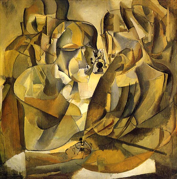 portrait of chess players by marcel duchamp