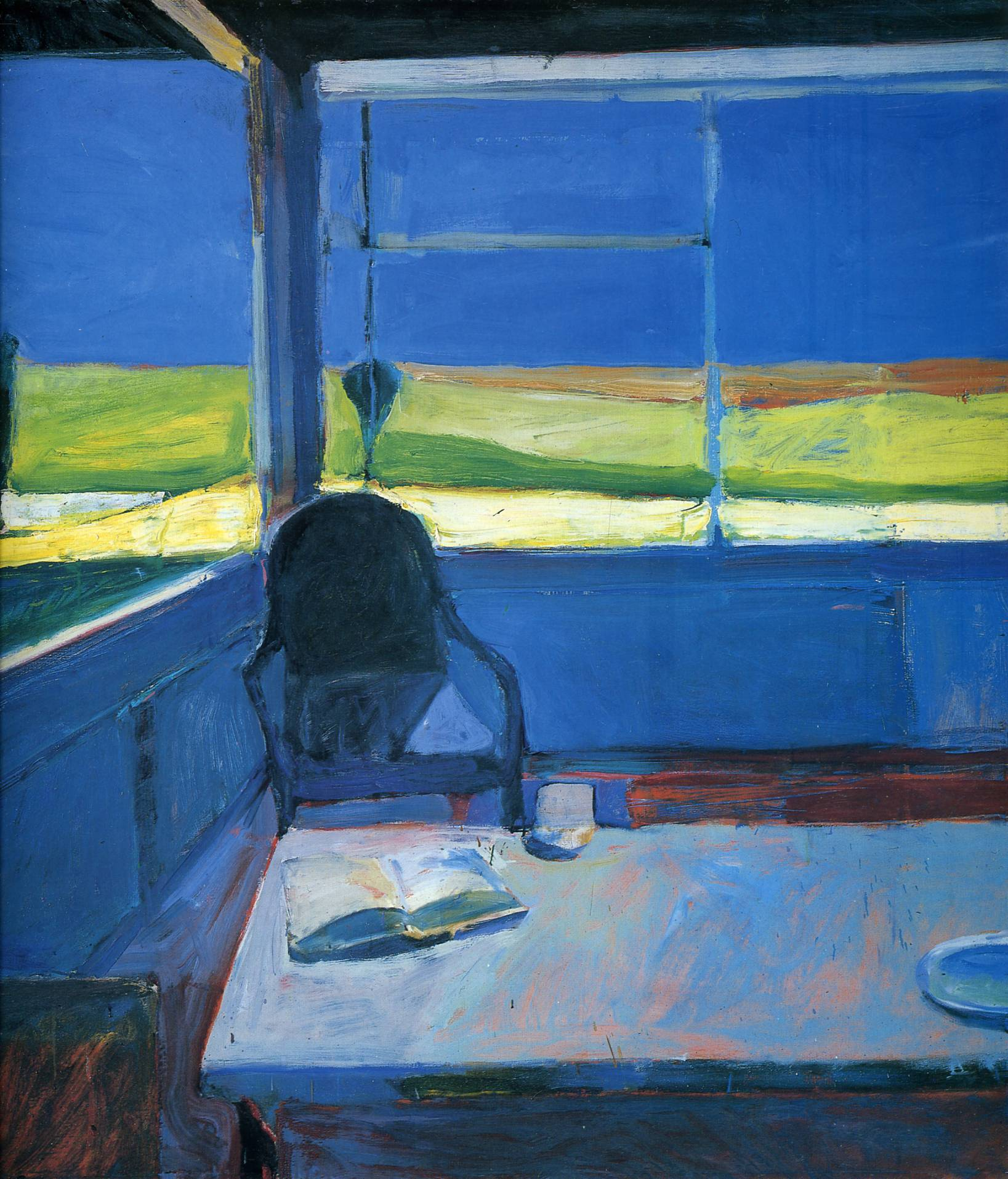 Famous Interior Paintings: Interior With A Book By Richard Diebenkorn