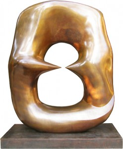 Working Model for Oval with Points, 1968-69. Bronze, 111.8 x 92.1 x 53.7 cm. Henry Moore Raymond and Patsy Nasher Collection, Nasher Sculpture Center, Dallas