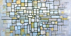 Piet Mondrian, 'Composition in Blue Gray and Pink', 1913. Oil on canvas