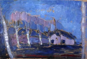 Piet Mondrian. 'Evening Landscape', 1903. Oil on canvas