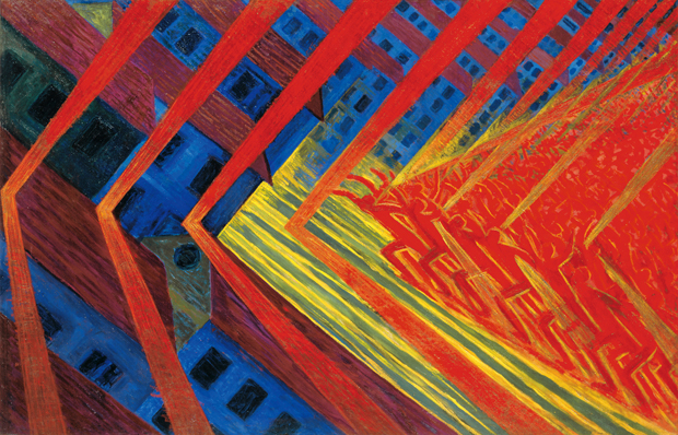 Luigi Russolo, The Revolt, 1911. Oil on canvas
