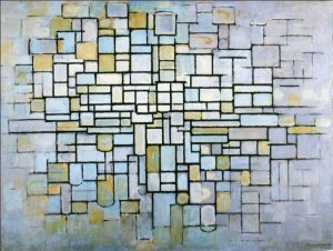 Piet Mondrian, 'Composition in Gray and Pink', 1913. Oil on canvas
