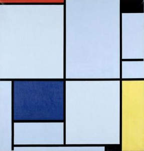 Piet Mondrian, 'Composition in Red, Black, Yellow and Gray' oil on canvas
