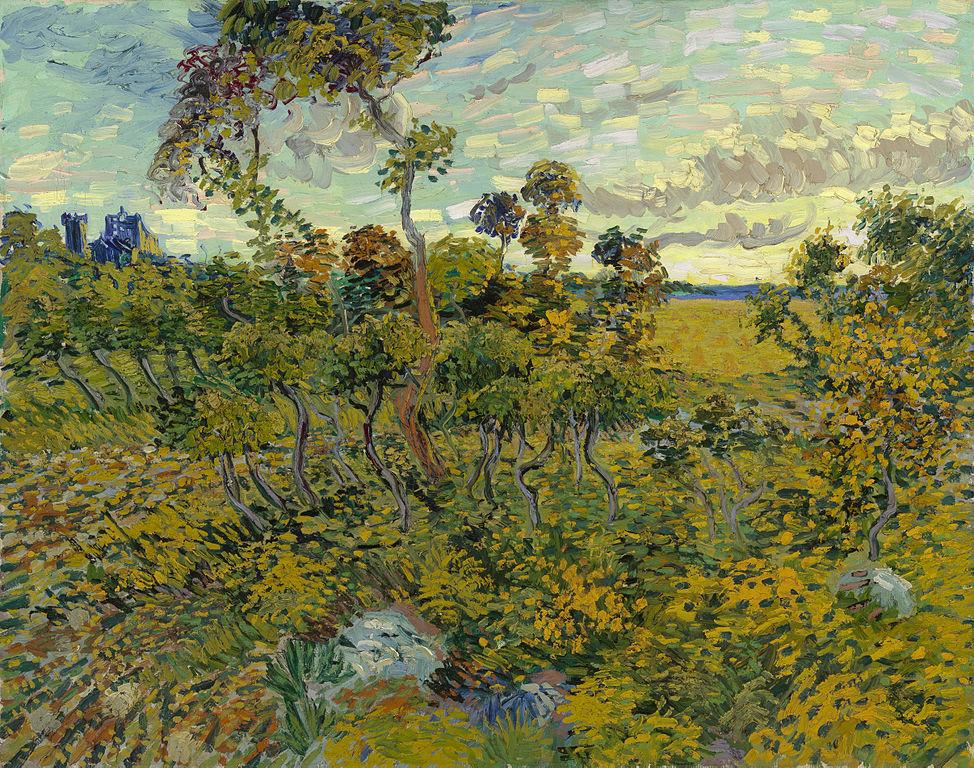 Van Gogh Sunset At Montmajour 1888 Oil On Canvas
