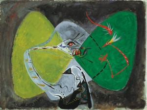 Bird Fascinated by a Snake (Oiseau fasciné par un serpent), 1942 Gouache on paper, 56.5 x 75.5 cm Peggy Guggenheim Collection, Venice 76.2553 PG 108 © André Masson, by SIAE 2008