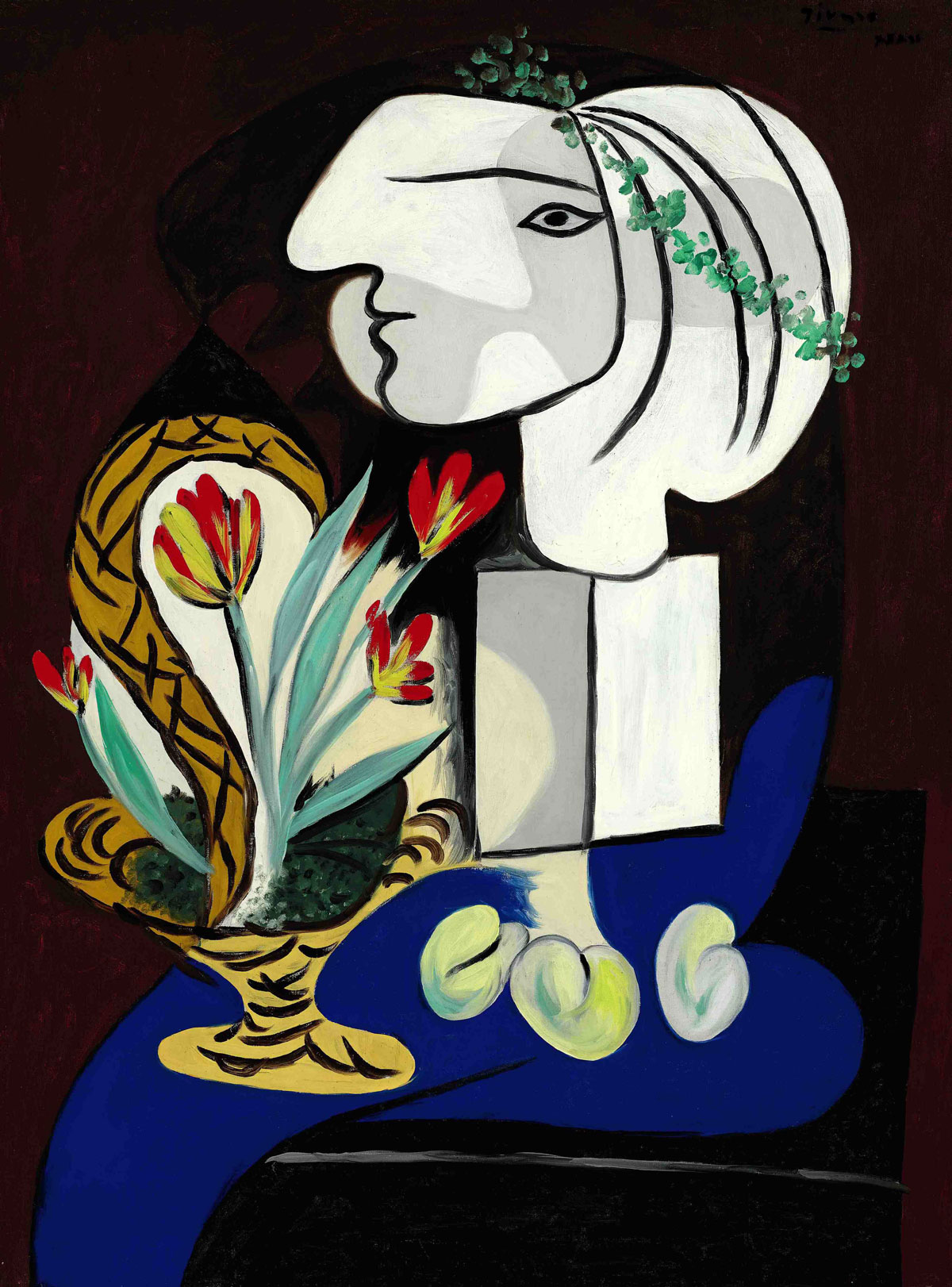Nature morte aux tulipes by Pablo Picasso - galleryIntell