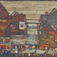 Egon Schiele HOUSES WITH LAUNDRY, ArtEx