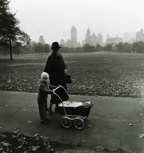 Diane Arbus Girl and governess with baby carriage, N.Y.C., 1962