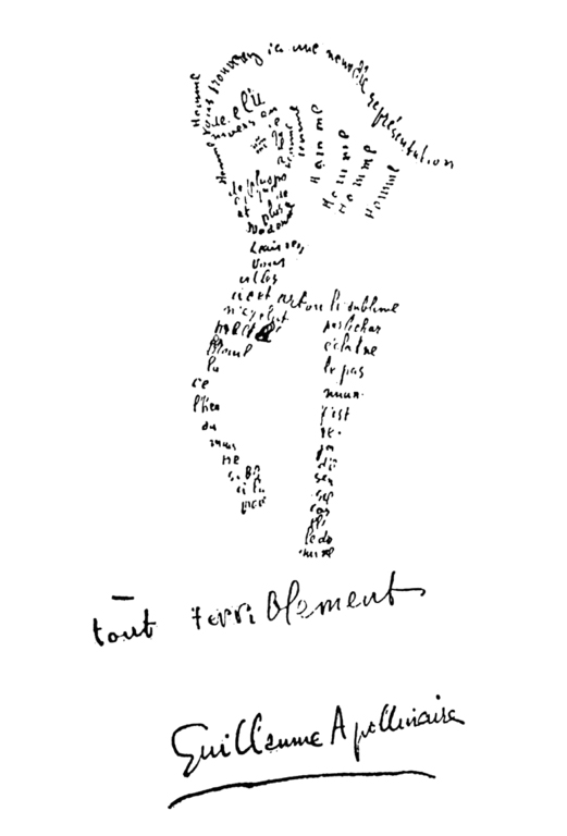Calligrammes poems of peace and war by guillaume apollinaire for Miroir coiffure st augustin