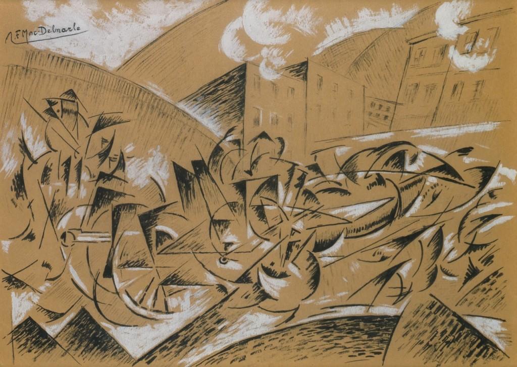 Felix del Marle Composition futuriste- Passage d'artillerie, c. 1914