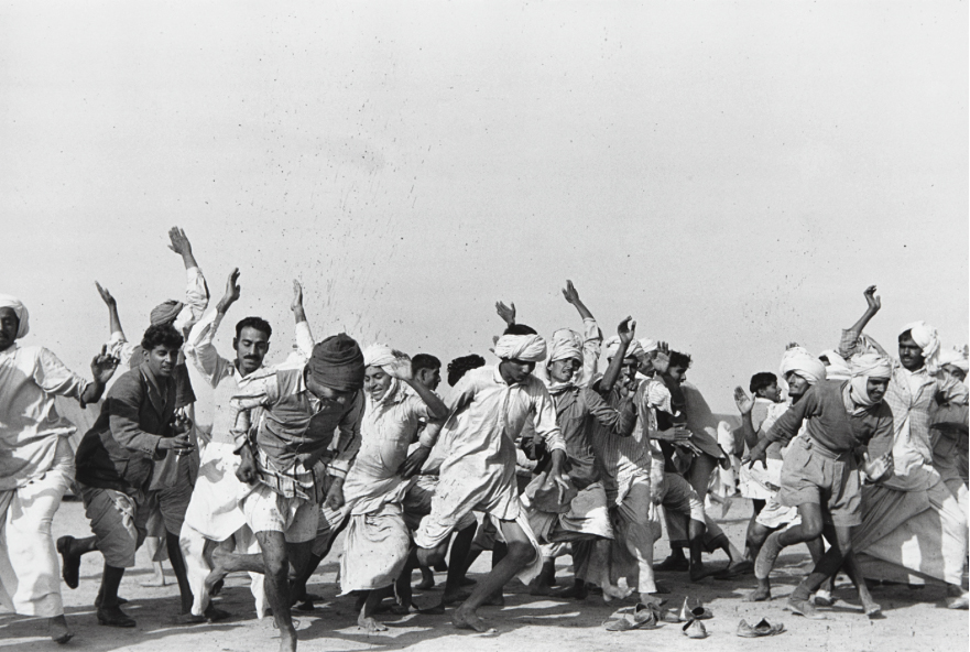 HENRI CARTIER-BRESSON Games in a refugee camp at Kurukshetra, Punjab, India, 1947