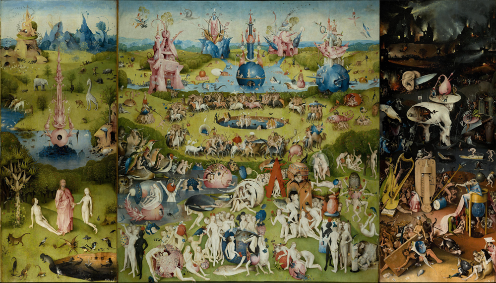 Garden of Earthly Delights by Hieronymus Bosch , galleryIntell