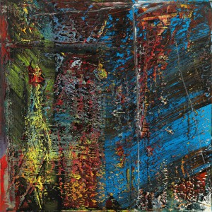 Sotheby's lot 40, Gerhard Richter, Blau 1988. Image courtesy Sotheby's International © Gerhard Richter