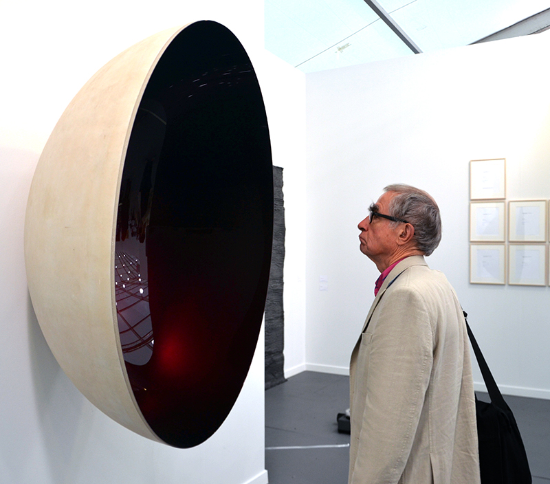 Frieze New York, Anish Kapoor, Untitled, 2014. Photograph by Kristina Nazarevskaia