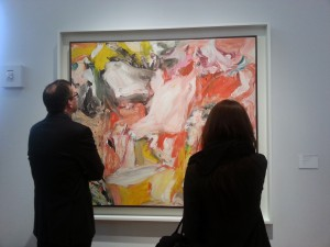 Christie's Spring 2014 Post War and Contemporary Sale. Willen de Kooning and visitors