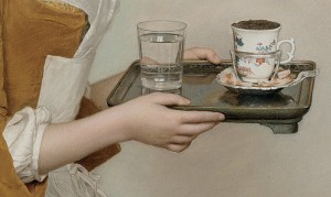 Jean-Etienne Liotard, The Chocolate Girl, detail