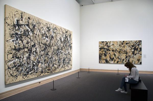 Jackson Pollock (left) and Conrad Marca-Relli (center-right) at the Metropolitan Museum. Photograph © Kristina Nazarevskaia