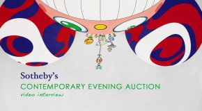 Sotheby's Contemporary Evening Sale. Video Interview with Alex R