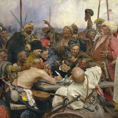 Ilya Repin, The Reply of the Zaporozhian Cossacks to Sultan Mahmoud IV, 1878-1891