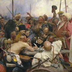 Ilya Repin, The Reply of the Zaporozhian Cossacks to Sultan Mahmoud IV, 1878-1891