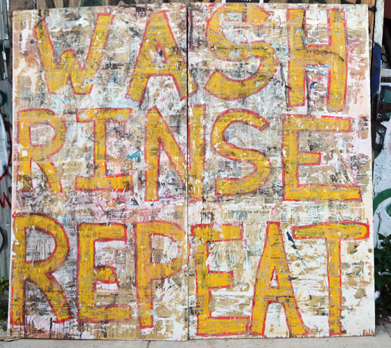 Wash, Rinse, Repeat. Street art Bushwick Open Studios 2014. Photograph by Kristina Nazarevskaia