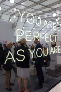 Jeppe Hein, You Are Perfect as You Are, 2013, Frieze 2014. Photograph by Kira Sidorova